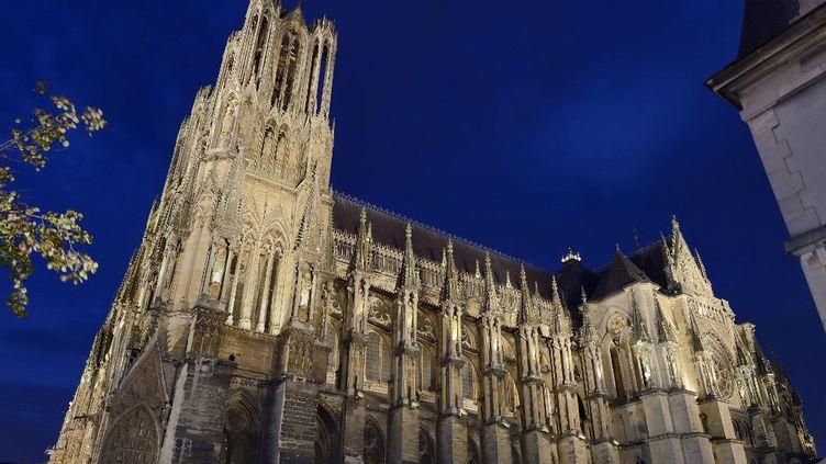 Cathédrale de Reims de nuit (RIEGER BERTRAND / HEMIS.FR)