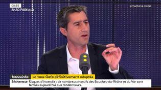 François Ruffin, invité sur franceinfo, vendredi 12 juillet. (FRANCEINFO / RADIOFRANCE)