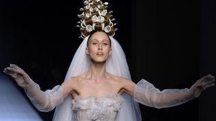 Jean Paul Gaultier haute couture printemps-été 2015, à Paris  (MIGUEL MEDINA / AFP)