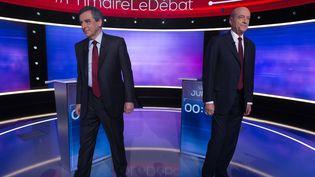 Les finalistes de la primaire à droite, François Fillon et Alain Juppé, le 24 novembre 2016. (WITT / SIPA)