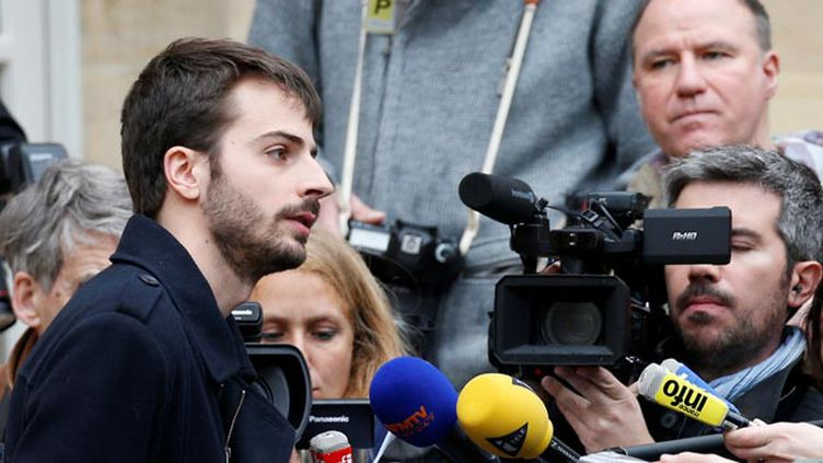 (William Martinet à l'issue de la rencontre avec Manuel Valls © REUTERS / Charles Platiau)
