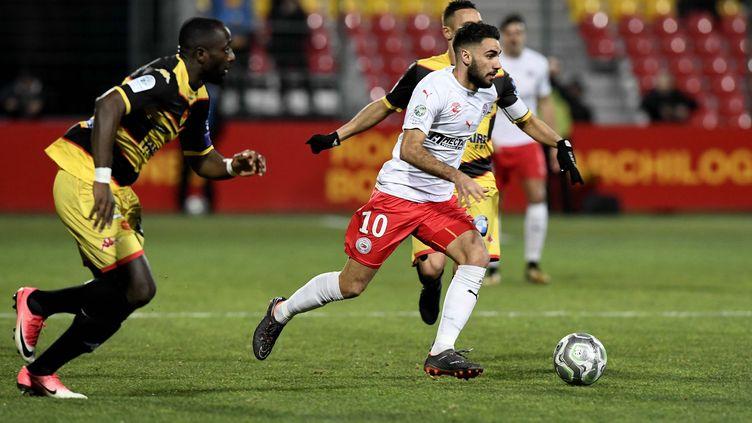 Nîmes s'impose à Orléans et file vers la Ligue 1 (PASCAL PROUST / MAXPPP)