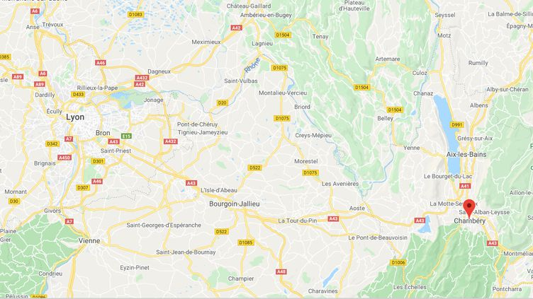 Chambéry (Savoie). (CAPTURE D'ECRAN GOOGLE MAPS)