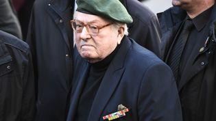 Jean-Marie Le Pen lors des funéraillesdeRoger Holeindre, cofondateur du Front national,à l'égliseSaint-Roch, à Paris, le 6 février 2020. (STEPHANE DE SAKUTIN / AFP)