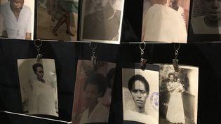 Photos de victimes du génocide rwandais, au Mémorial de Kigali (JÉRÔME VAL / FRANCE-INFO)