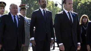 Le Premier ministre, Edouard Philippe,et le président de la République, Emmanuel Macron, le 8 mai 2018 à Paris. (ETIENNE LAURENT / AFP)
