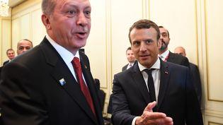 Le président turc Recep Tayyip Erdogan et Emmanuel Macron se sont rencontrés, jeudi 25 mai 2017, à Bruxelles. (ERIC FEFERBERG / POOL)