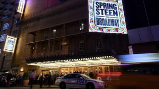 Bruce Springsteen à Broadway, ici en octobre 2017.  (ANGELA WEISS / AFP)