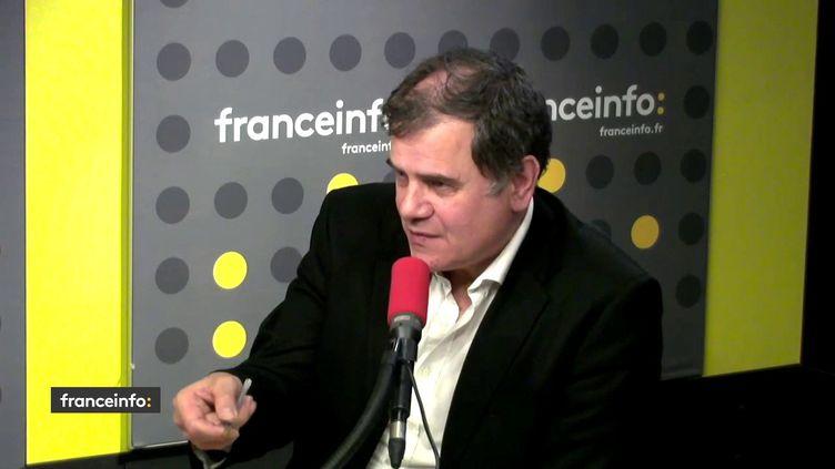 Jean-Christophe Ploquin, journaliste à La Croix invité des informés de franceinfo le 6 janvier 2019. (FRANCEINFO / RADIOFRANCE)
