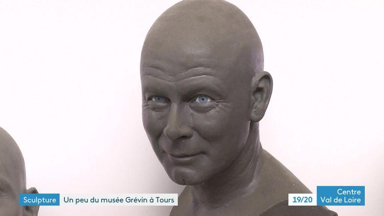 Franck Dubosc, l'un des visages réalisés par le sculpteur Stéphane Barret pour le musée Grévin (France 3 Centre-Val de Loire)