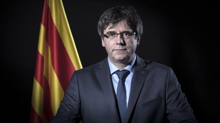 Le leader catalan Carles Puigdemont, le 7 février 2018, à Bruxelles (Belgique). (EMMANUEL DUNAND / AFP)