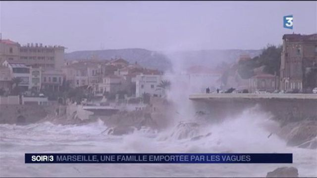 Marseille : une famille emportée par les vagues