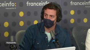 Laurent Richard était l'invité de franceinfo lundi 19 juillet 2021. (FRANCEINFO / RADIOFRANCE)