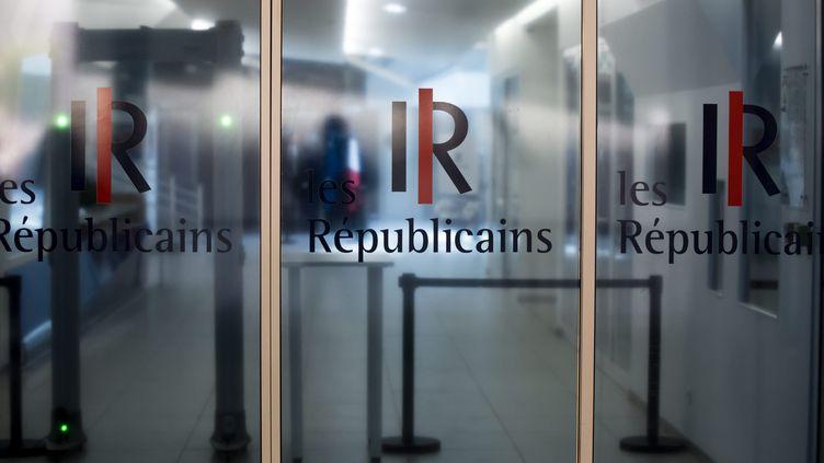 L'entrée du siège du parti Les Républicains, rue de Vaugirard, à Paris. (MAXPPP)