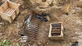 Aisne : Plus de 1 500 obus retrouvés dans un village. (FRANCE 2)