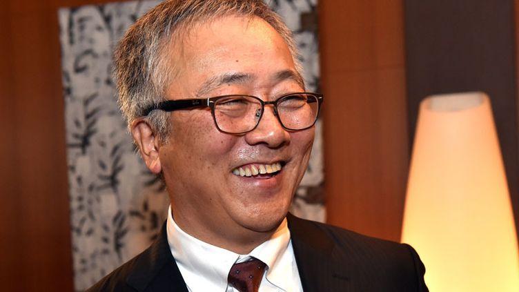 L'auteur de mangas Katsuhiro Otomo à Paris en décembre 2014  (Yoshikazu Tsuno / AFP)