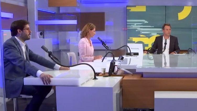 Etienne Girard, Alix Bouilhaguet et Marc Fauvelle à franceinfo le 1er juillet 2021 (FRANCEINFO / RADIO FRANCE)