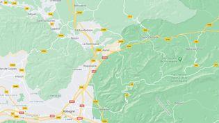 L'incendie s'est déclenché à Auriol (Bouches-du-Rhône) vers 16h45 mardi 6 avril. (GOOGLE MAPS)
