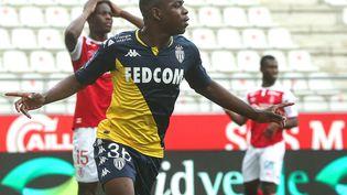 Eliot Matazo a marqué l'unique but du match entre l'AS Monaco et le Stade de Reims dimanche 9 mai. (FRANCOIS NASCIMBENI / AFP)