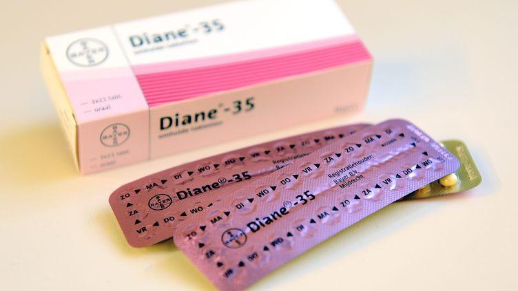 Une boîte de pilules Diane 35, le 5 mars 2013. (LEX VAN LIESHOUT / ANP MAG / AFP)