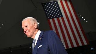Joe Biden, candidat aux primaires démocratespour la présidentielle, lors d'un meeting à Philadelphie (Etats-Unis), le 10 mars 2020. (MANDEL NGAN / AFP)