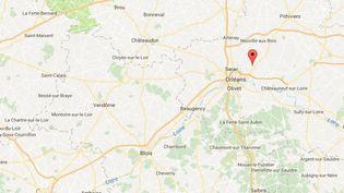 Une trentaine de tombes ont été vandalisées à Marigny-les-Usages (Loiret). (GOOGLE MAPS)