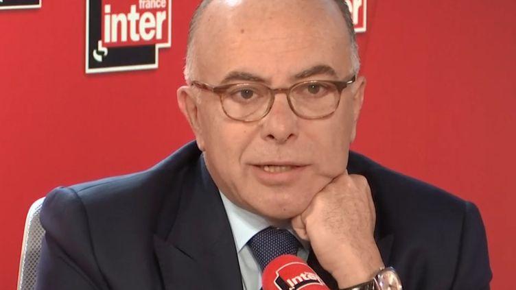 L'ancien ministre de l'Intérieur Bernard Cazeneuve, le 9 octobre 2019, sur France Inter. (FRANCEINTER / RADIOFRANCE)