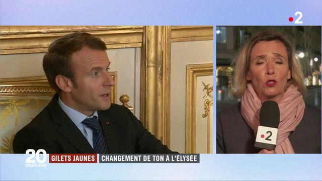"""""""Gilets jaunes"""" : l'Élysée change de ton"""
