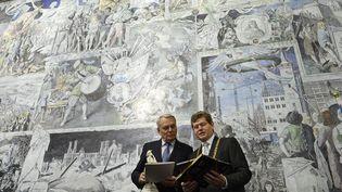 Le Premier ministre Jean-Marc Ayrault, en visite en Bavière, dans le sud de l'Allemagne, le 5 avril 2013. (CHRISTOF STACHE / AFP)