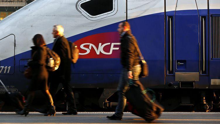 Un TGV en gare de Lyon à Paris, en 2013 (photo d'illustration) (MAXPPP)