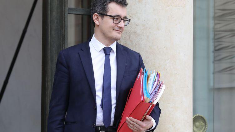 Le ministre de l'Action et des Comptes publics Gérald Darmanin, mercredi 31 janvier 2018 au palais de l'Elysée. (LUDOVIC MARIN / AFP)