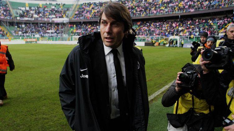 L'entraineur de la Juventus Antonio Conte (MARCELLO PATERNOSTRO / AFP)