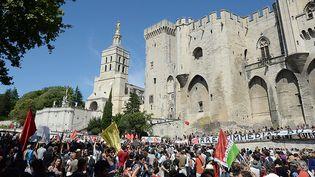 Manifestation des intermittents à Avignon en juillet 2014  (BORIS HORVAT / AFP)
