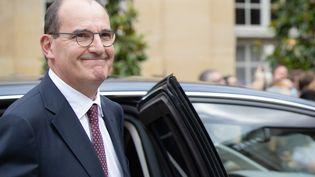 Le nouveau Premier ministre, Jean Castex, le 3 juillet 2020 à Matignon, lors de la passation de pouvoirs avec Edouard Philippe. (HAMILTON / REA)