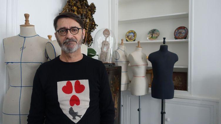 Le couturier Franck Sorbier, à Paris, novembre 2017  (Corinne Jeammet)