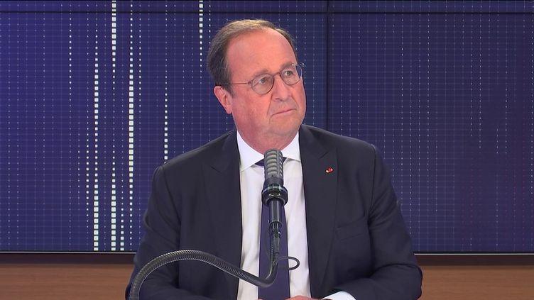 François Hollande, ancien président de la République, invité de franceinfo le 8 septembre 2021.  (FRANCEINFO / RADIO FRANCE)
