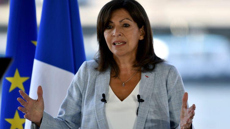 Anne Hidalgo, la maire socialiste de Paris, a annoncé le 12 septembre sa candidature à l'élection présidentielle d'avril 2022. (ST?PHANE GEUFROI / MAXPPP)