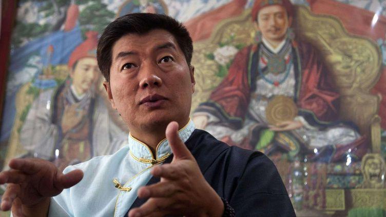Lobsang Sangay, le Premier ministre du gouvernement tibétain en exil, le 27 avril 2016 àDharmsala (Inde). (Ashwini Bhatia/AP/SIPA)