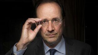Francois Hollande, le candidat socialiste à la présidentielle, à Paris le 3 janvier 2012. (FRED DUFOUR / AFP)