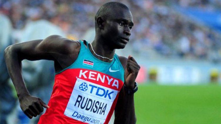 La joie de Rudisha après son record du monde du 800 m