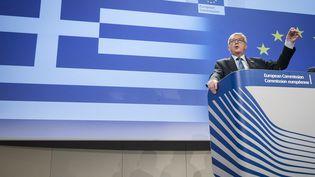 Le président de la Commission européenne, Jean-Claude Juncker, le 29 juin 2015 à Bruxelles (Belgique). (WIKTOR DABKOWSKI / AFP)