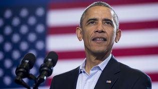 Barack Obama lors d'un meeting à Bridgeport (Connecticut) pour soutenir Dan Malloy,candidat démocrate pour une réélection au poste de gouverneur, le 2 novembre 2014. (SAUL LOEB / AFP)