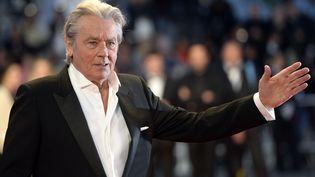 """L'acteur Alain Delon présentait la version restaurée de """"Plein Soleil"""" pour le 66e Festival de Cannes en 2013. (ANNE-CHRISTINE POUJOULAT / AFP)"""