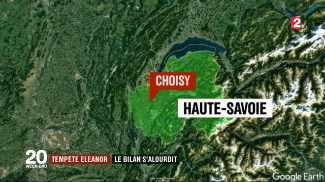 Tempête Eleanor : 5 morts et 3 disparus