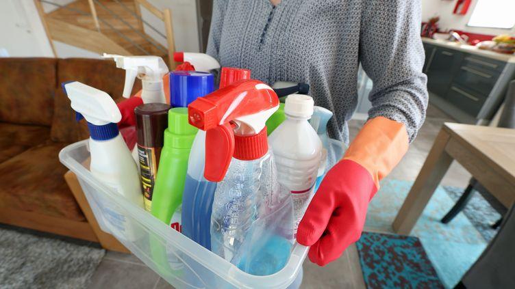 Des produits ménagers (image d'illustration). (FRANCOIS DESTOC / MAXPPP)