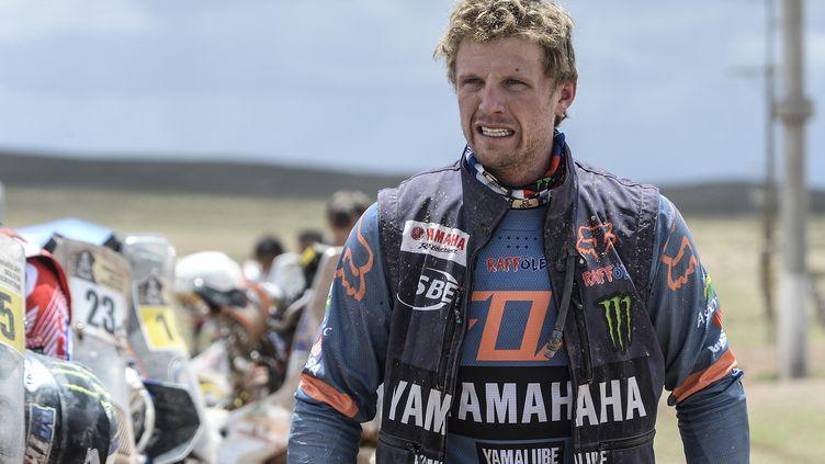 Adrien Van Beveren (Yamaha) proche d'un premier podium sur le Dakar (ERIC VARGIOLU / E.V.A.)
