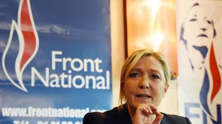 La présidente du Front national Marine Le Pen le 13 juillet 2015. (LOIC VENANCE / AFP)