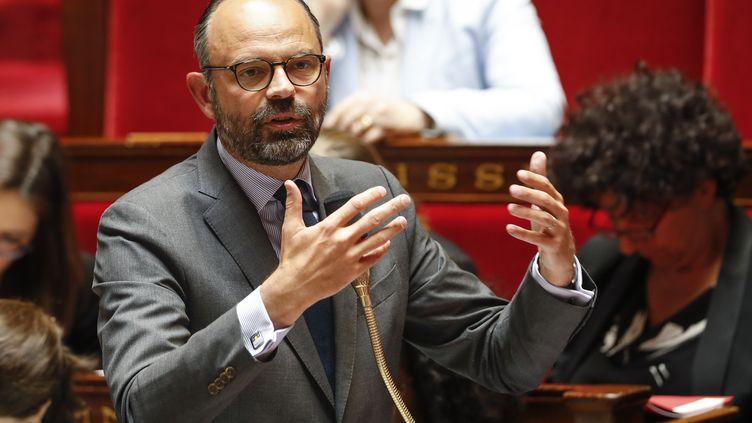 Le Premier ministre Edouard Philippe, le 29 mai 2019, lors d'une séance de questions au gouvernement à l'Assemblée nationale. (FRANCOIS GUILLOT / AFP)