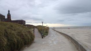 La plage de Berck-sur-Mer (Pas-de-Calais) où a été retrouvée, le 20 novembre 2013, une fillette morte d'environ un an. (MAXPPP)