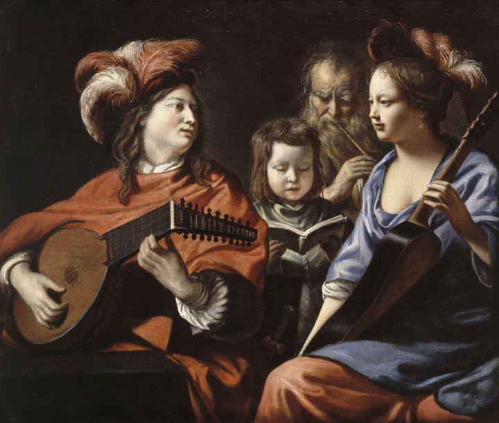 """Mathieu Le Nain, """"Le Concert"""", vers 1655-1660, Laon, musée d'Art et d'Archéologie  (RMN-Grand Palais / Hervé Lewandowski)"""